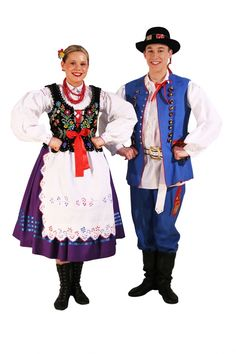 Tradicional costume from the Rzeszów region Folk Costume, Costumes, Married Woman, Red Pattern, White Embroidery, Historical Clothing, Traditional Dresses, Folklore, Ukraine