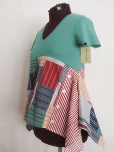 Upcycled whimsical summer top
