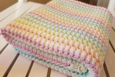 Crocheted Starlight Baby Blanket - Free Pattern