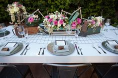 Wedding Inspiration with Metal + Wood Details