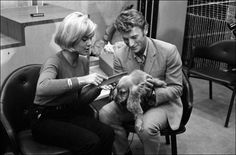Sylvie Vartan and Johnny Hallyday with the dog Molière at Orly airport in France on October 15 1963 Johnny Halliday, Vartan Sylvie, Rock And Roll, Images, Groupes, October 15, France, Couple Photos, Animaux