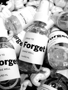 writing prompt: spray to forget