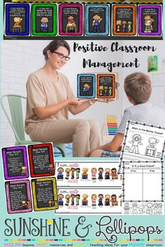 "Positive Classroom Behavior Posters, Task Cards and Worksheets Written in Kid Friendly ""I can..."" Statements. Click through and check out the sample in the preview to see how this can work for your class!!"