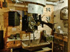 Vojenské Muzeum na demarkační linii v Rokycanech vnitřní expozice střílny bunkru. Diorama, Dioramas