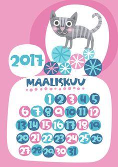 Maaliskuu 2017 | free | printable | pattern | lasten | lapset | askartelu | kalenteri | vuosikalenteri | seinäkalenteri | tulostettava | paperi | koti | sisustus | kids | children | crafts | home | paper | calendar | Pikku Kakkonen