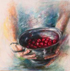 A CHORUS OF CHERRIES. Oil. Mariana Zwaan