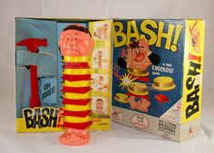 Vintage Milton Bradley BASH! A Real Knockout Game