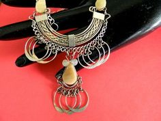 Vintage  Peruvian  alpaca silver  and  agate  necklace    BellaWorxJewelry - Jewelry on ArtFire
