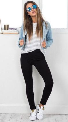 simple chic outfit idea for everyday #casualchicfashion