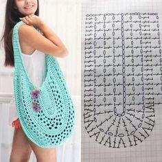 Crochet Bag / Simple And Beautiful Croch Beautiful - Diy Crafts - Marecipe Bag Crochet, Crochet Market Bag, Crochet Handbags, Crochet Purses, Crochet Clothes, Crochet Stitches, Cotton Crochet, Crochet Designs, Crochet Patterns