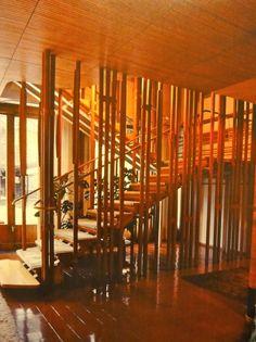 Chapter 27 Scandinavian Modern - The stairs in Alvar Aalto's Villa Mairea.