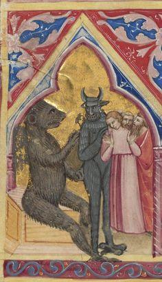 Bibliothèque nationale de France, Département des manuscrits, Français 9561, detail of f. 44v. Bible historiée toute figurée. 14th century
