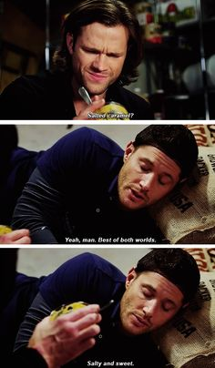 "(gif set) ""Yeah, man, best of both worlds."" 