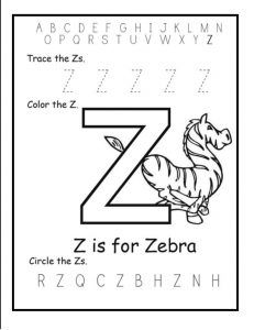 Trace The Uppercase Z