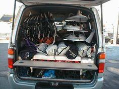 【ベッド展開】 H12年式ハイエースS-GL ディーゼル4WD ハイエース/キャラバン/ワンボックスカー/トランポ用品の販売【オグショー】 ドゥブログ