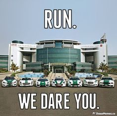 Dubai supercar Police fleet are 100% badass. Click on the image for more hilarious car memes. #lol #spon
