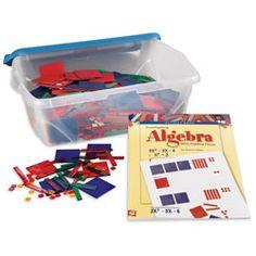 Nasco's Complete Algebra Tiles™ Classroom Kit ~ Sets ~ Algebra Tiles Algebra Lessons, Math Classroom, Teaching Resources, Tiles, Technology, Kit, Activities, Education, Room Tiles