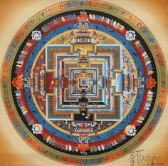 The Kalachakra Mandala - Support for your Buddhist practice and meditation.