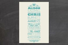 Classically Modern Wedding Invitations