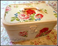 Train case upcycled with Cath Kidston
