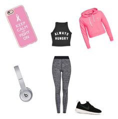 """""""Out for a run"""" by josiesbeauty ❤ liked on Polyvore featuring Topshop, Only Play, NIKE, Casetify and Beats by Dr. Dre"""