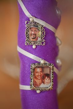 "My dad passed away in 2001, my brother walked me down the ""isle"" on our beach wedding...  Here is what I did in my fathers honor on my bouquet, and my brother wore a chain with his picture...."