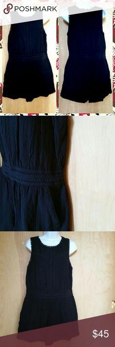 "Ann Taylor Loft romper size  8 Like New Measures: length 30"" bust 20"" 100% cotton Ann Taylor Dresses"