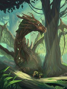 Forest Dragon by xXNikleXx.deviantart.com on @DeviantArt