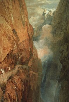 The Passage of the St. Gothard, 1804, William Turner Medium: watercolor