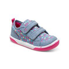 Stride Ride Dalis in Blue/Pink. #stirderite #dalissneaker #babygirlsshoes #girls #shoes #pink #baby #cutebabygirlshoes