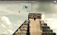 MÉXICO- Avistamento de UFO ou Balão? Sobre a Pirâmide de Chichén Itzá