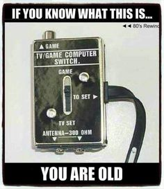 I know exactly what it is! I had one!