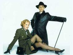 Kim Hartman and Vicki Michelle in 'Allo 'Allo! British Comedy Series, British Tv Comedies, Vicki Michelle, Celebrities In Stockings, Frauen In High Heels, Stocking Tops, Comedy Tv, Lingerie, Classic Tv