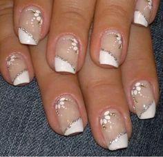 Uñas decoradas Gelish Nails, Silver Nails, Nail Art Galleries, Beautiful Nail Art, Nail Arts, Manicure And Pedicure, Cute Nails, Nail Art Designs, Acrylic Nails