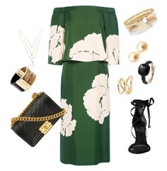 Mint Oh Licious! by wening11 on Polyvore featuring polyvore, fashion, style, TIBI, Schutz, Chanel, River Island, Pomellato, Michael Kors, Jennifer Fisher, Forever 21 and clothing