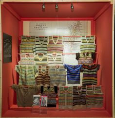 """The Fair Isles collection from """"Knitwear - Chanel to Westwood"""" exhibition at Fashion and Textile Museum"""