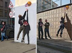 """Basketball Players Wanted - Advertising Agency: BBDO Russia - Our idea was very simple """" Stick up Announcements of the trials for the basketball team in the streets..BUT… we stuck them so high that only the tall could reach the announcement and rip off the unique code needed to get into the trials."""""""