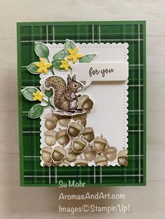"Special Someone Squirrel Says ""Nuts For You"" – Aromas and Art - Stampin Up 2020 Happpy Birthday, Animal Cards, Fall Cards, Card Tutorials, Card Maker, Art Pages, Kids Cards, Creative Cards, Homemade Cards"