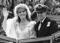 British Royalty:  The Duke and The Duchess of York (later Sarah, Duchess of York) on their wedding day in 1986.