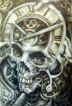 Bad Ass Skull Airbrush Style - Best Airbrush Art Images, Videos and Galleries: share, rate thousand of Pictures and discover the latest uploads! - Just Airbrush Model Tattoo, 1 Tattoo, Neue Tattoos, Bild Tattoos, Skull Tattoos, Sleeve Tattoos, Skull Motorcycle, Totenkopf Tattoos, Skull Artwork