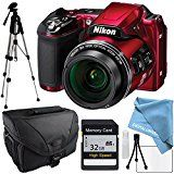 #8: Nikon COOLPIX L840 Red Full Size Tripod Camera Case Memory Card