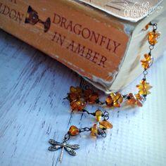 Outlander Bracelet - Dragonfly in Amber Bracelet -  Amber Bracelet - Diana Gabaldon Inspired - Outlander Jewelry - Outlander Theme Bracelet by StudioRegency on Etsy https://www.etsy.com/listing/241400655/outlander-bracelet-dragonfly-in-amber