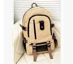 Men Canvas Outdoor Backpack //Price: $26.56 & FREE Shipping // #handbag #awesome #bagsdesigns