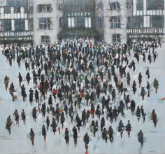 Original paintings by artist Karen Brighton. Atmosperic crowd scenes on canvas availabel at Fairfax Gallery Tunbridge Wells Tunbridge Wells, Brighton, Original Paintings, Gallery, Artist, Artists