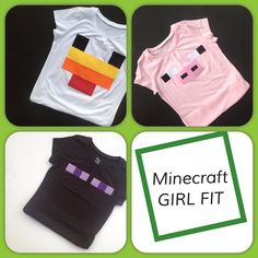 Hey, I found this really awesome Etsy listing at https://www.etsy.com/listing/182975811/girl-fit-minecraft-character-shirts