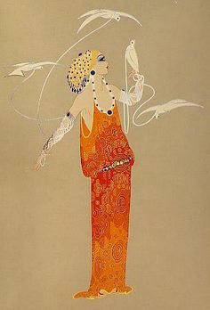 Aphrodite from the Love and Beauty by Erte