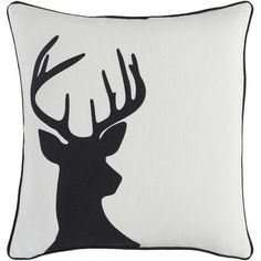 Artistic Weavers Holiday Deer Throw Pillow Size: 18x18 Cover and Down Insert