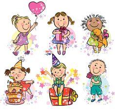 Ilustração de crianças celebrando - ilustração de arte em vetor
