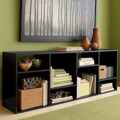 "Shift Black 74"" Bookcase in Media Centers & Storage | Crate and Barrel"