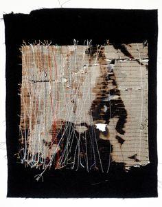 Beth Charles. Journey into Night series, 'I walk alone'.  Machine and hand stitch on fabric
